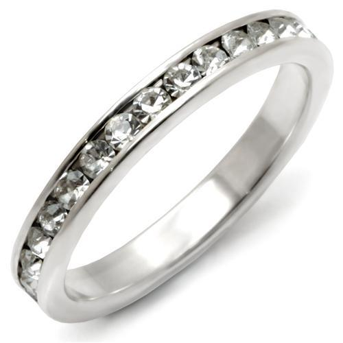 925 Sterling Silver Eternity Ring with Clear CZs