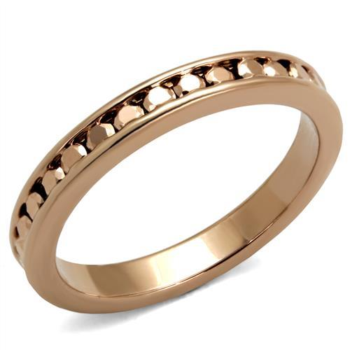 Stainless Steel Eternity Ring - Rose Gold Colored