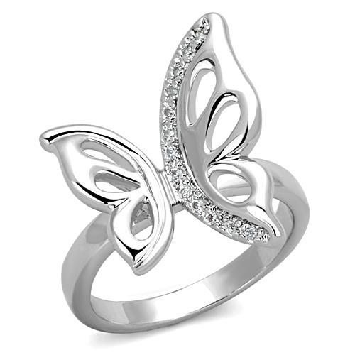 Stainless Steel Large Butterfly Ring