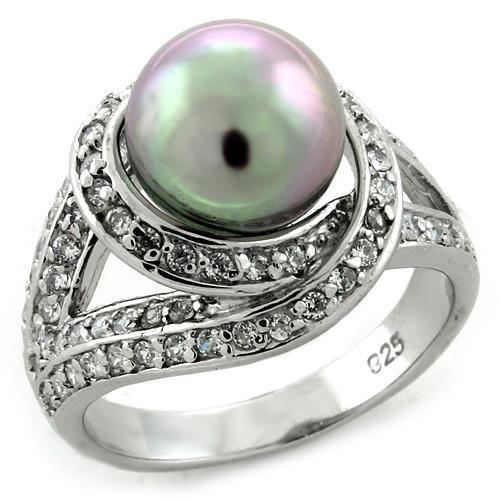 Synthetic Pearl, 925 Silver Ring