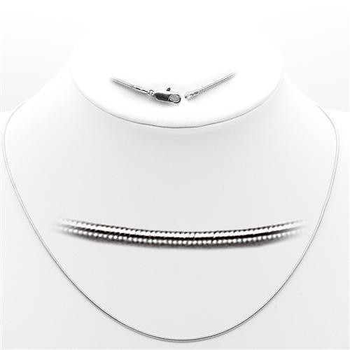 Plain, 16 inch, Roodium-Plated Necklace