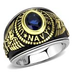 US Navy Two-Tone, Stainless Steel Ring