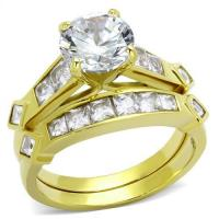 Gold-Plated Stainless Wedding Set