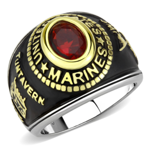 US Marines Two-Tone, Stainless Steel Ring