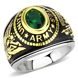 US Army Two-Tone, Stainless Steel Ring